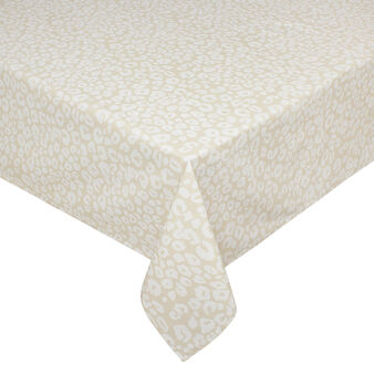 100% cotton tablecloth with animal print
