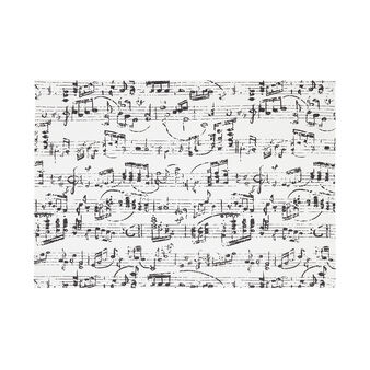 100% cotton table mat with musical notes print