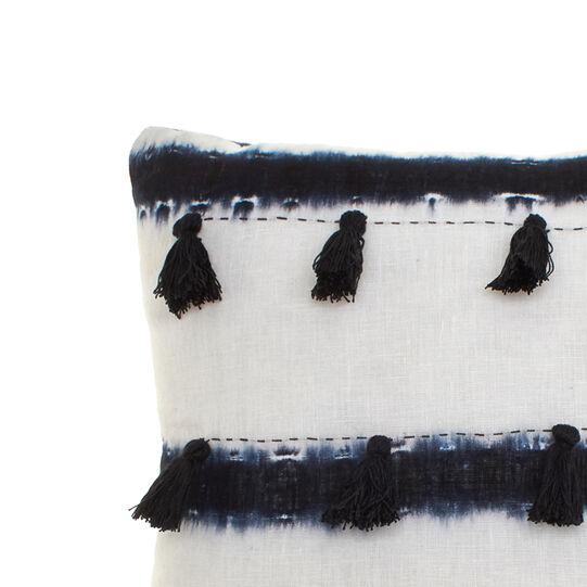 Cuscino puro lino stampa tie and dye