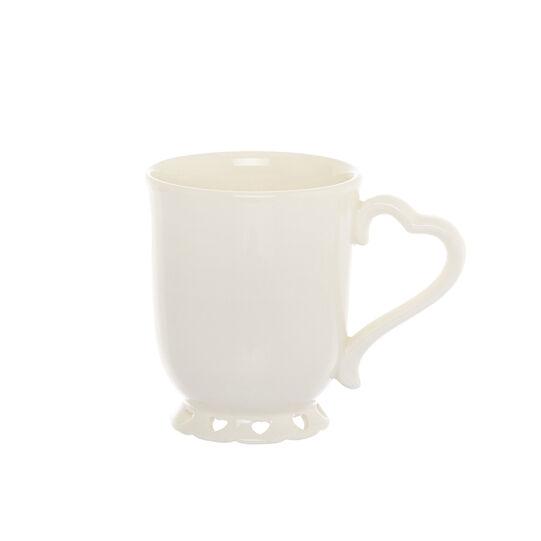 Mug ceramica cuori traforati