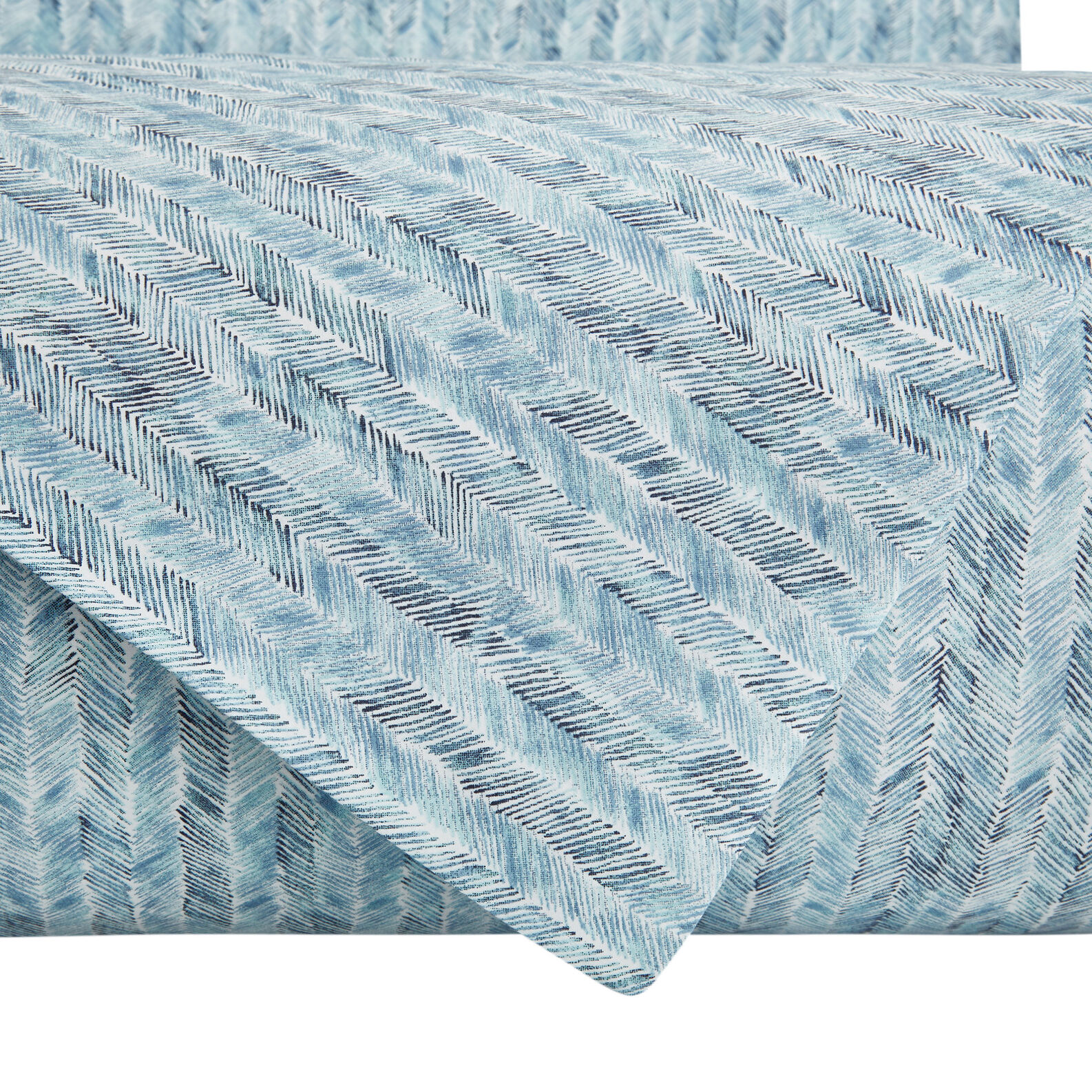 Flat sheet in cotton percale with herringbone pattern