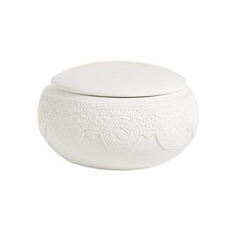 Contenitore ceramica Merletto