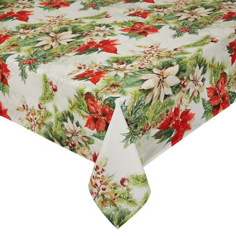 100% European cotton tablecloth with Christmas print