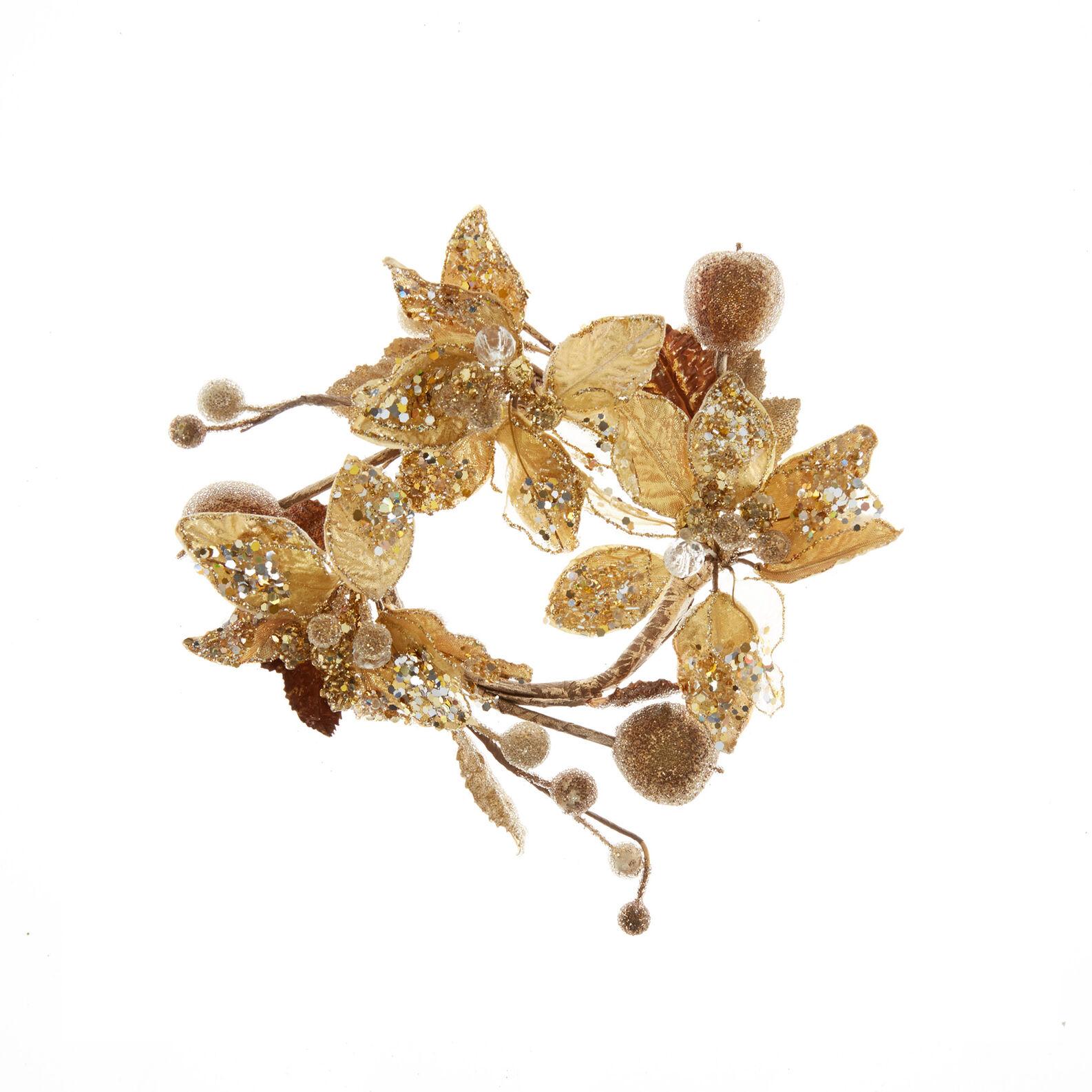 Corona fiori di magnolia decorata a mano