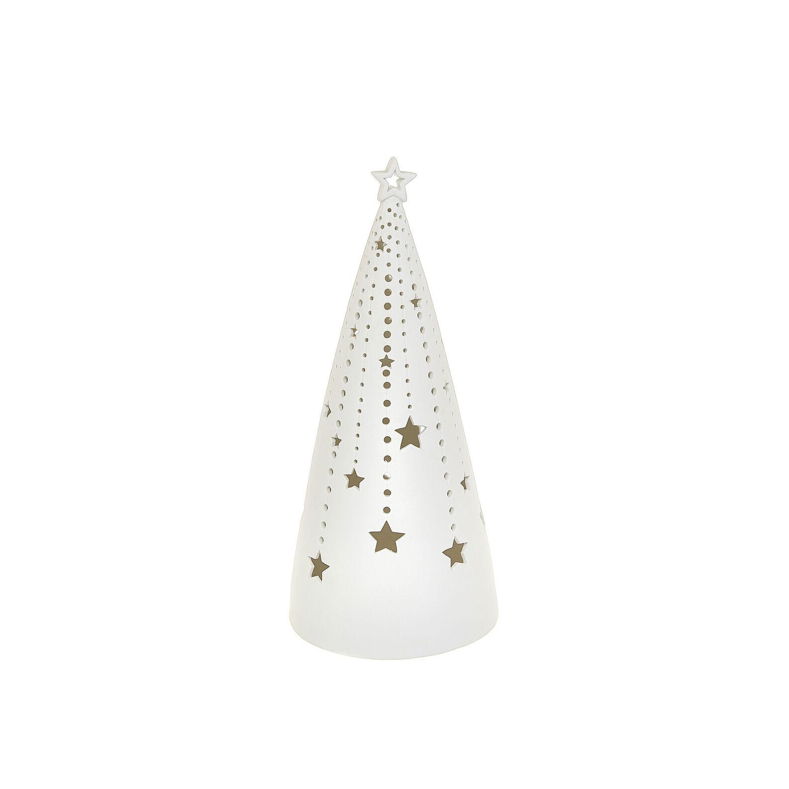 LED tree in openwork porcelain