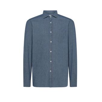 Luca D'Altieri 100% cotton slim-fit shirt