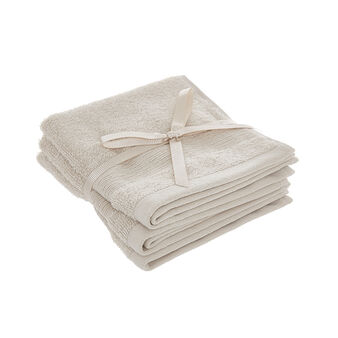 Set of 3 solid colour face cloths in 100% Egyptian cotton