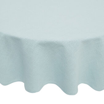 Round tablecloth in solid colour iridescent cotton