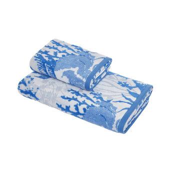 Asciugamano cotone velour motivo coralli