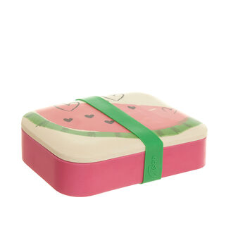 Watermelon lunch box in bamboo fibres