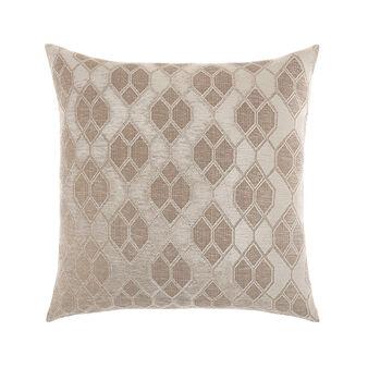 Geometric motif jacquard cushion 43x43cm
