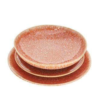 Piatto fondo ceramica Orange