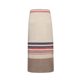 100% linen apron with stripes