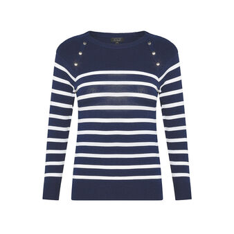 Koan striped top with buttons