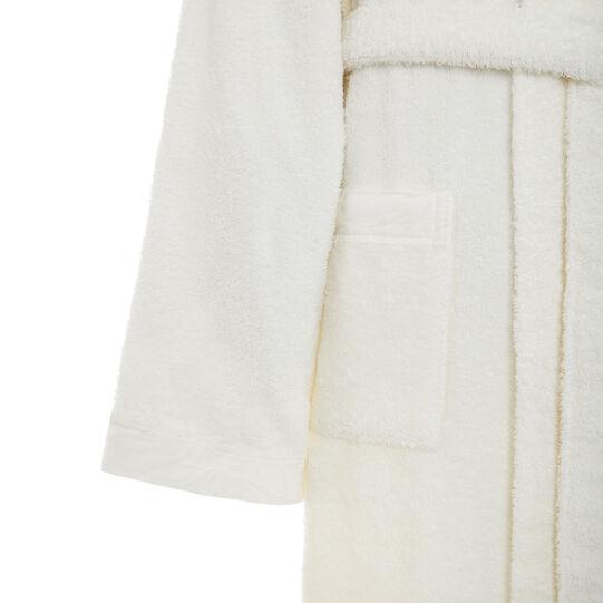 Accappatoio puro cotone biologico bordo in lino