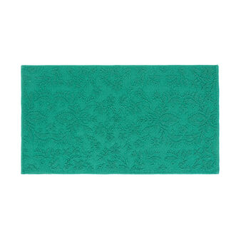 Cotton bath mat with raised motif