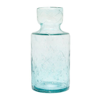 Coloured glass vase with bubble effect
