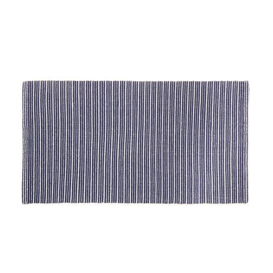 Kitchen mat in striped cotton
