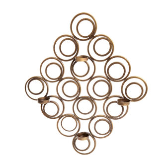 Wall-mounted candle holder in iron