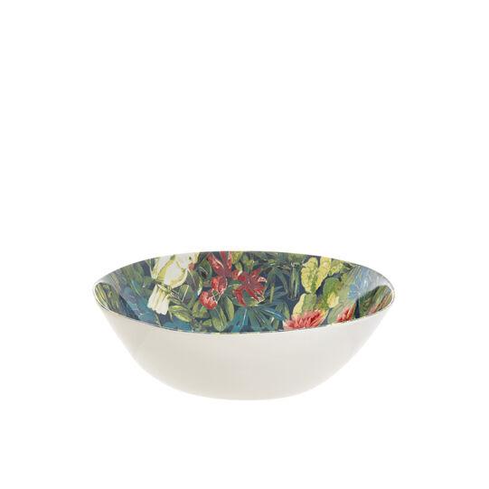 Tropical melamine soup plate
