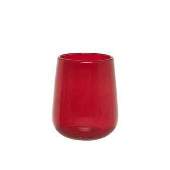 Bicchiere acqua vetro pulegoso