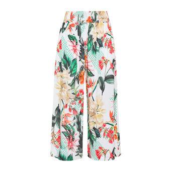 Pantalone ampio in viscosa stampa floreale