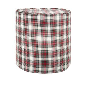 Pouf in tessuto tartan