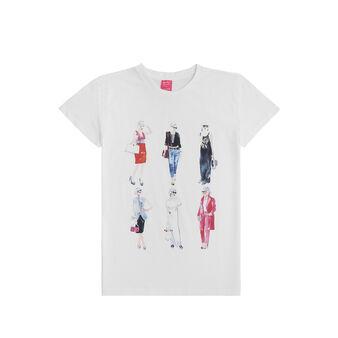T-shirt puro cotone stampa Sandra Jacobs