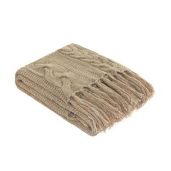 Portofino cable knit throw