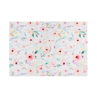 Cotton twill table mat with roses print