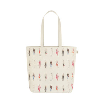 Sandra Jacobs print regenerated leather bag