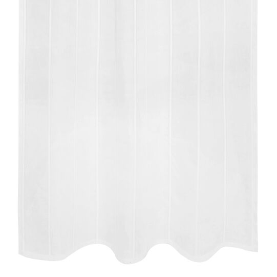 Linen blend curtain with applications