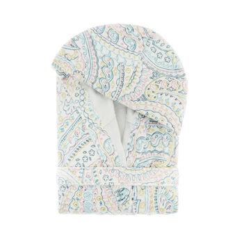 100% cotton bathrobe with paisley print