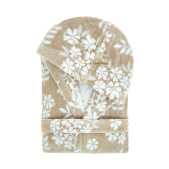Accappatoio cotone velour motivo floreale Portofino
