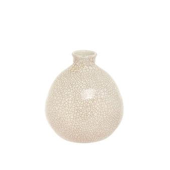Vaso artigianale in ceramica portoghese effetto craquelé