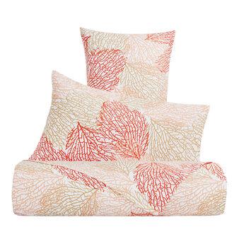 Parure lenzuola raso di cotone fantasia coralli