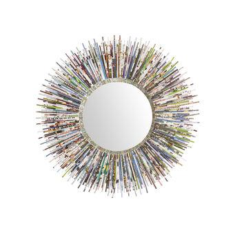 Specchio in carta riciclata