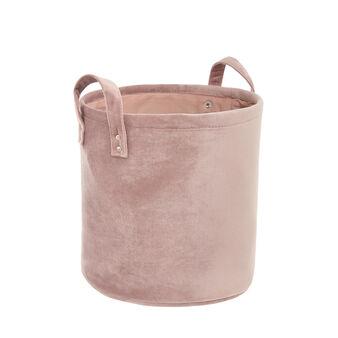 Basket with velvet handles