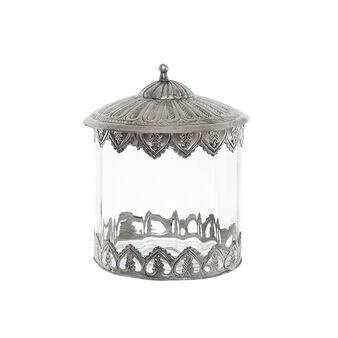 Box in vetro coperchio in metallo