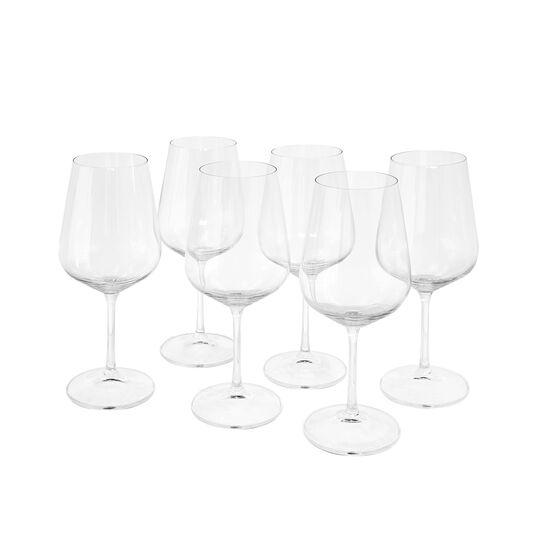 Set of 6 wine goblets, 45 cl.