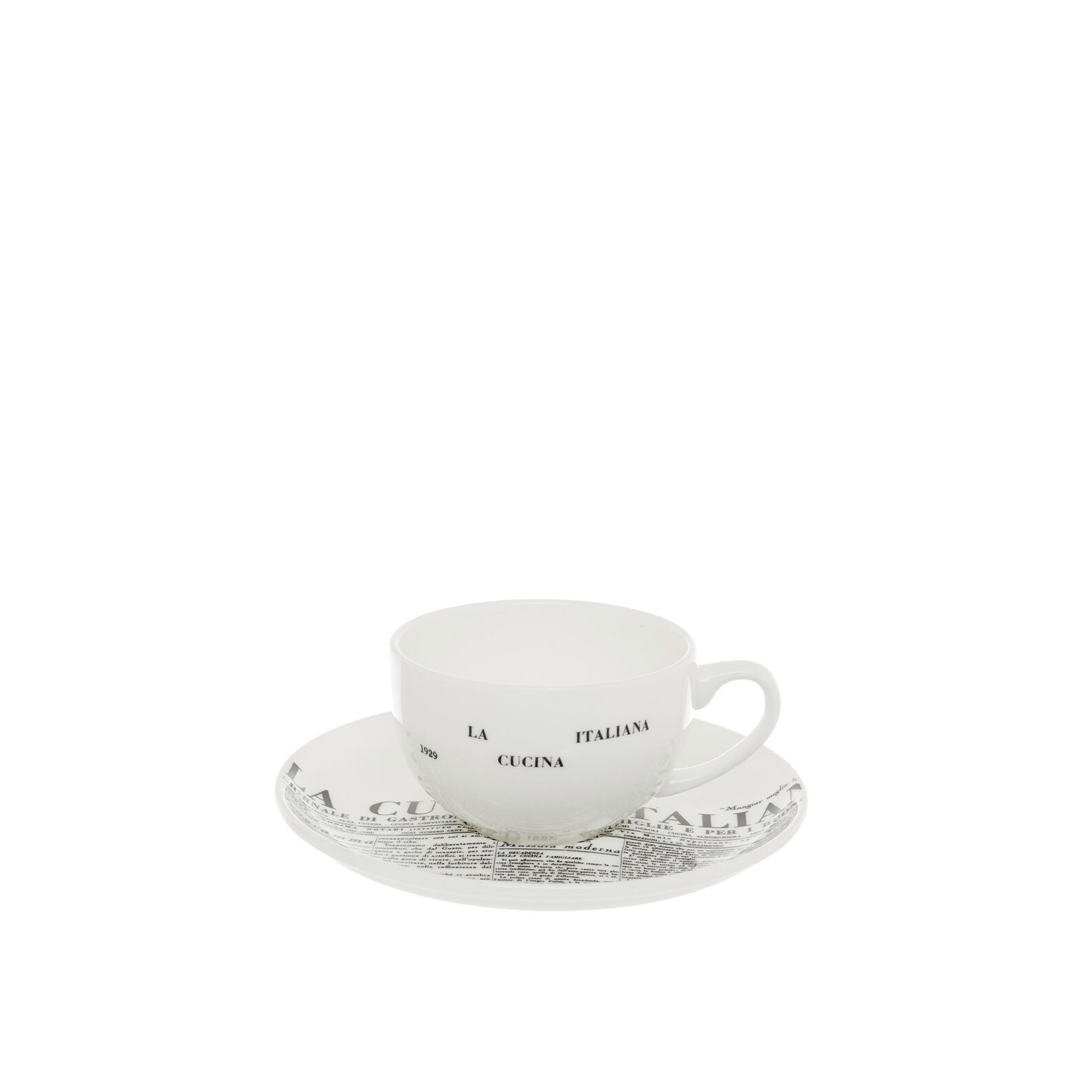 Fine bone china coffee cup with geometric La Cucina Italiana decoration