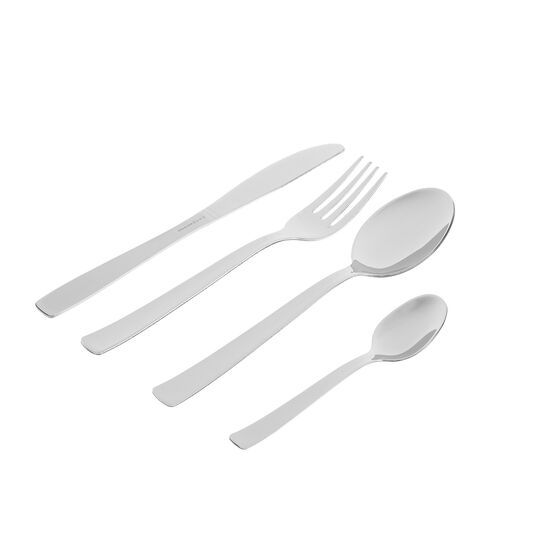 24-piece Duna cutlery set in stainless steel