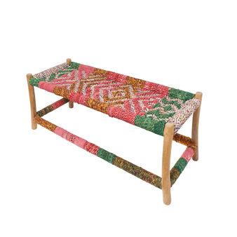 Panca Multi-Cord tessuto sari riciclati
