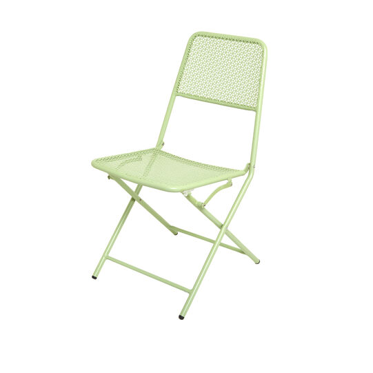 Green steel chair
