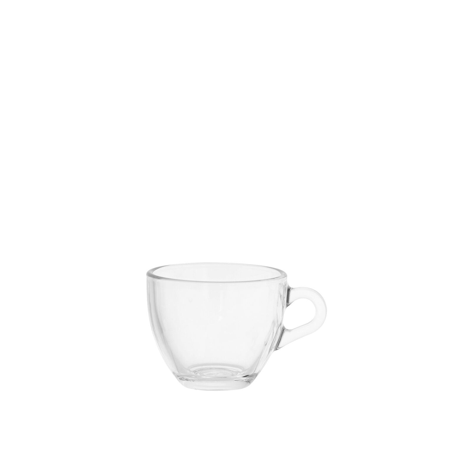 Clear glass coffee cup