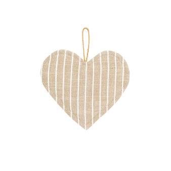 Striped 100% iridescent cotton heart-shaped pot holder