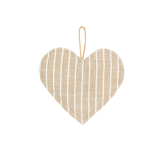 Striped 100% iridescent cotton heart-shaped pot holder