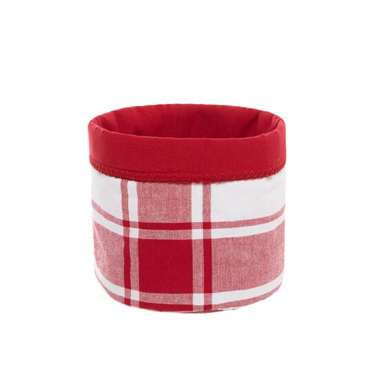 Check basket in 100% cotton