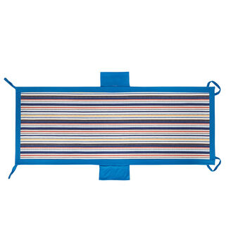 Striped microfibre pocket beach towel