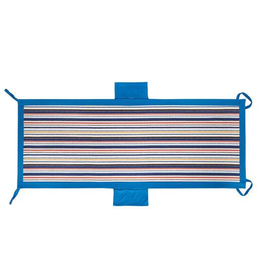 Striped microfibre pocket beach towel